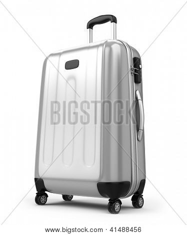 Large suitcase isolated on white