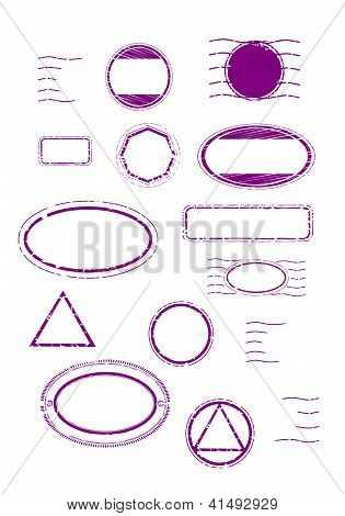 Blank Rubber Stamps Set