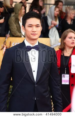 LOS ANGELES - JAN 27:  Harry Shum Jr. arrives at the 2013 Screen Actor's Guild Awards at the Shrine Auditorium on January 27, 2013 in Los Angeles, CA