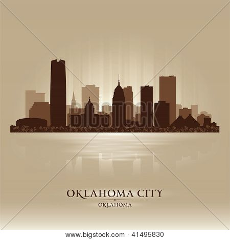 Oklahoma City Skyline silhueta