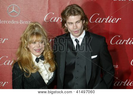 PALM SPRINGS, CA - JAN 5: Charo and her son arrive at the 2013 Palm Springs International Film Festival's Awards Gala at the Palm Springs Convention Center on January 5, 2013 in Palm Springs, CA