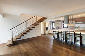 stock photo of duplex  - nice modern loft - JPG