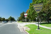 Sinal no parque de Los Angeles de Beverly Hills