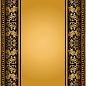 pic of nostalgic  - Vintage elegant background antique victorian gold floral ornament baroque frame beautiful invitation classical old style card ornate page cover label royal luxury ornamental pattern template for design - JPG