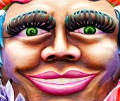 picture of mardi gras mask  - large smiling carnival face - JPG