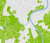 stock photo of cartographer  - Editable vector street map of town - JPG