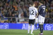 VALENCIA - JANUARY 23: Pereira and Ronaldo during Spanish King�?�´s Cup match between Valencia CF