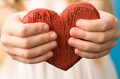 stock photo of hand heart  - Close - JPG