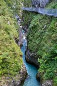 Leutasch Gorge in the German alps, Bavaria