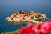 pic of yugoslavia  - Sveti Stefan resort in Montenegro in the south of Europe - JPG