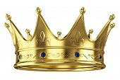 foto of princess crown  - Gold crown isolated on white background - JPG