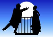 pic of juliet  - silhouette of Romeo and Juliet balcony scene - JPG