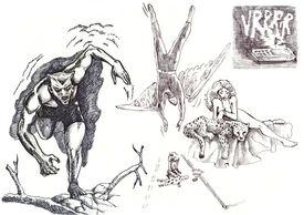 picture of storyboard  - A hand drawn illustration of supernatural superheros  - JPG