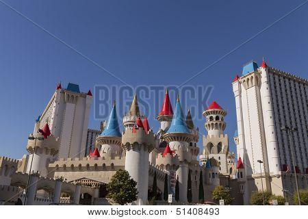 Excalibur Hotel At Sunrise In Las Vegas, Nv On April 19, 2013