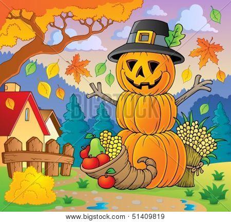 Thanksgiving theme image 2 - eps10 vector illustration.