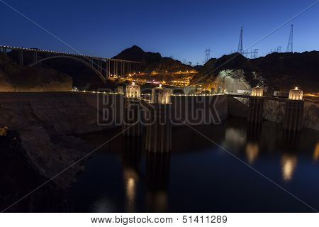 Hoover Dam And Bypass Bridge In Boulder City, Nv On June 14, 2013