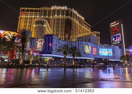 Flooding In Front Of Planet Hollywood In Las Vegas, Nv On July 19, 2013