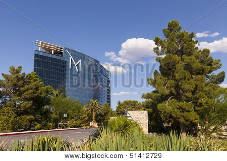 M Resort Hotel With Sunny, Blue Skies In Las Vegas, Nv On August 20, 2013