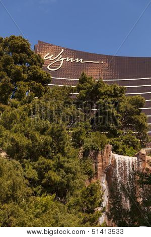 Wynn Hotel And Water Feature In Las Vegas, Nv On March 30, 2013