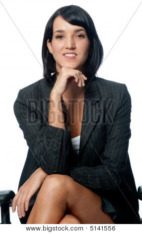 Businesswoman Sitting Down