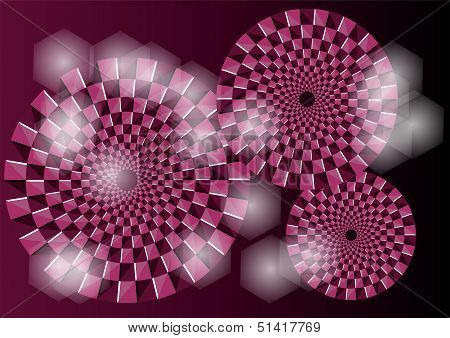 Purple Optical Illusion