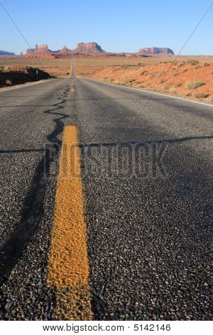 Usa, Monument Valley- Road Leading Up To Valley