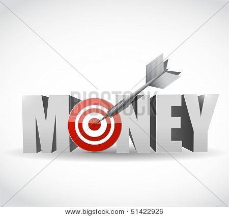 Money Target Dart Illustration Design