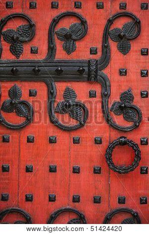 Ornate Red Door