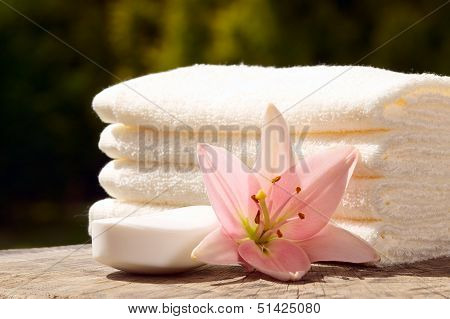 Towels With Flower