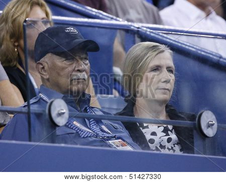 Former Mayor of New York City David Dinkins attends match at US Open 2013
