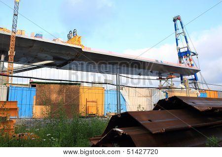 Pridge Pice Slides On To The Bridge