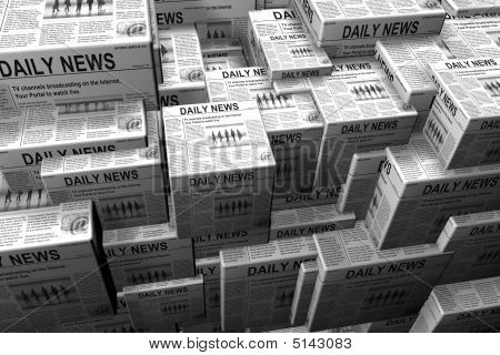 Stacks Of Newspaper