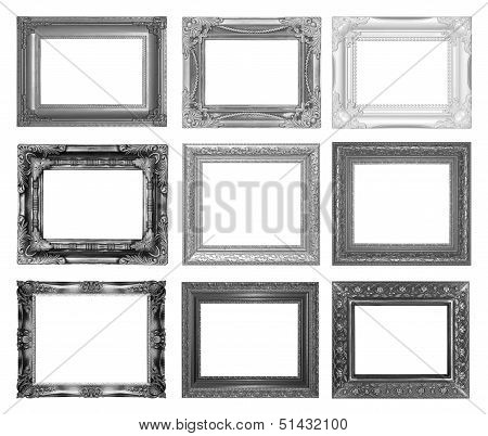 Set Picture Frame Isolated On White Background