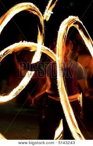 Fire Show - Zhangler Twists Torch