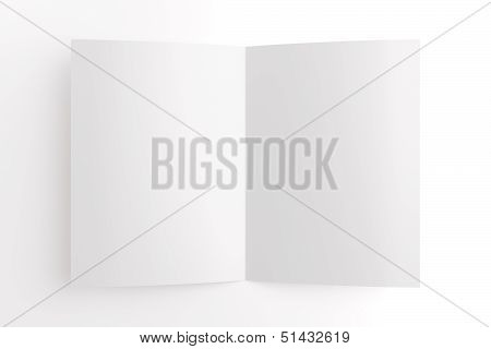 Blank Card Isolated On White