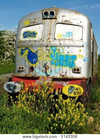 Derelict Train Engine