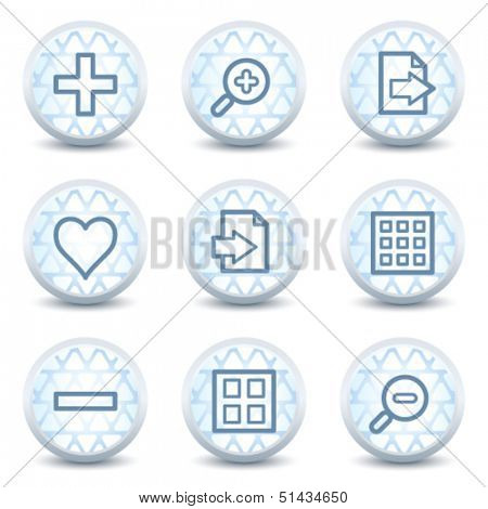 Image viewer web icons set 1, glossy circle buttons