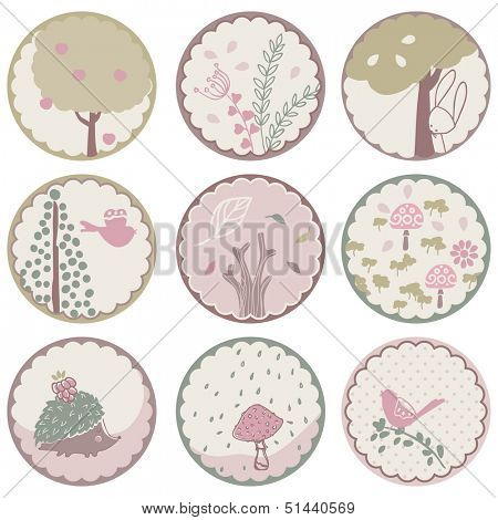forest circle tags
