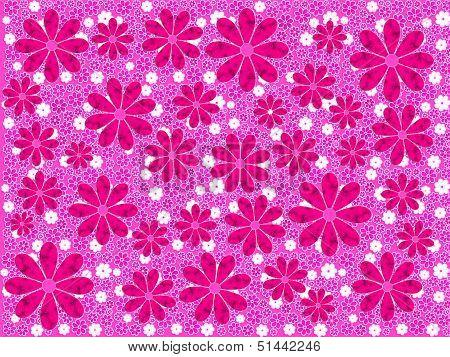 Pink Flower Art Pattern
