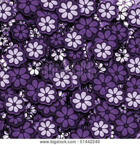 Purple Layers Of Flowers