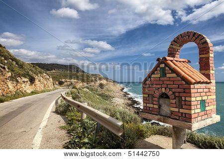 Roadside Altar In Greece