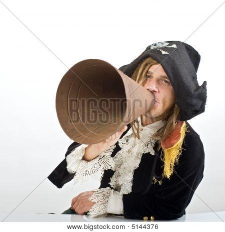 Pirate And Megaphone