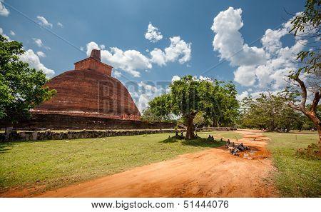Abhayagiri - Major Monastery Site Of Theravada Buddhism That Was Situated In Anuradhapura, Sri Lanka