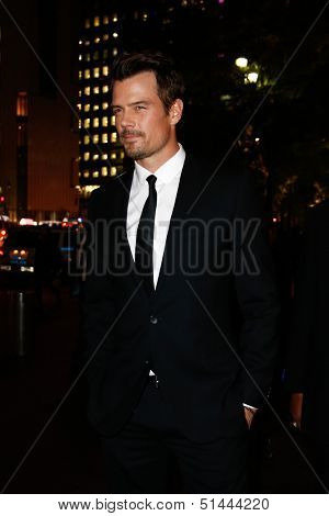 NEW YORK-SEP 24: Actor Josh Duhamel attends HUGO BOSS celebrates Columbus Circle BOSS flagship opening on September 24, 2013 in New York City.