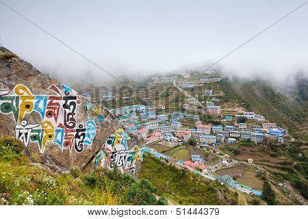 Namche Bazar - biggest village in Khumbu valley Nepal
