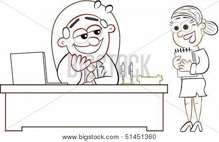 Boss Man And Secretary