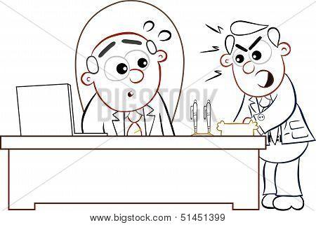 Boss Man And Shouting Employee