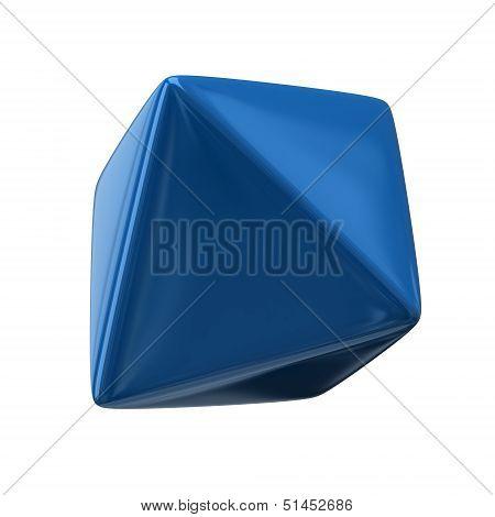 Blue octahedron