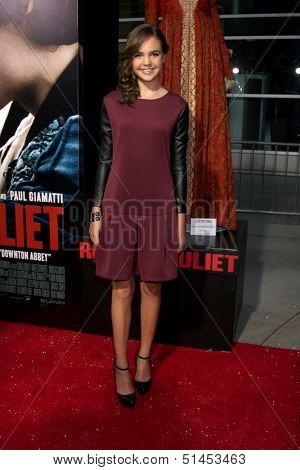 LOS ANGELES - SEP 24:  Bailee Madison at the Romeo & Juliet Premiere at ArcLight Hollywood Theaters on September 24, 2013 in Los Angeles, CA