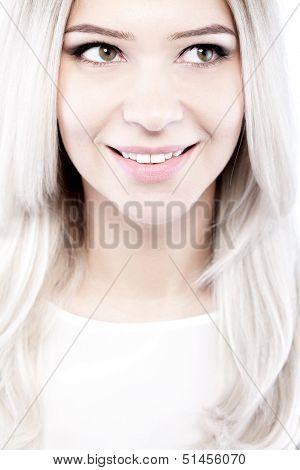 Beautiful Blond Girl Portrait